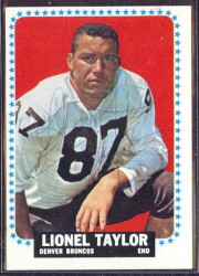 autographed 1964 topps lionel taylor