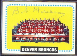 autographed 1964 topps broncos team