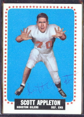 autographed 1964 topps scott appleton