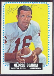 autographed 1964 topps george blanda