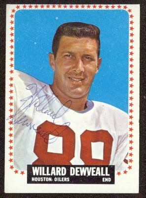 autographed 1964 topps willard dewveall