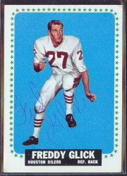 autographed 1964 topps freddy glick