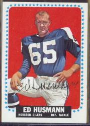 autographed 1964 topps ed husmann