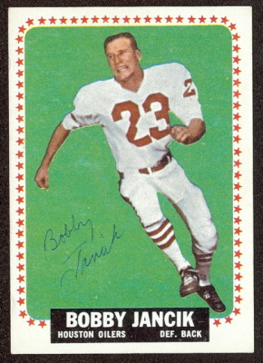 autographed 1964 topps bobby jancik