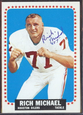 autographed 1964 topps rich michael