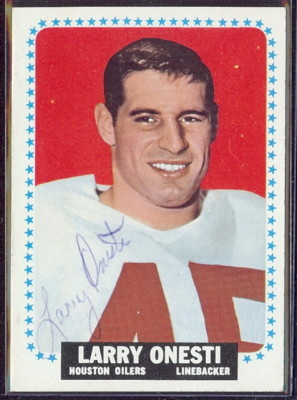 autographed 1964 topps larry onesti