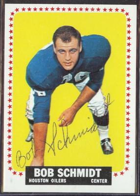 autographed 1964 topps bob schmidt