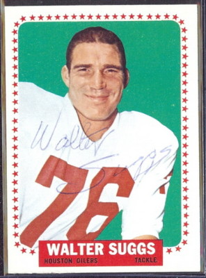 autographed 1964 topps walt suggs
