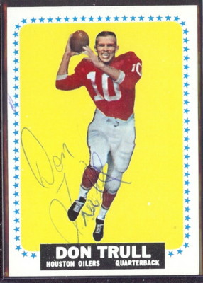 autographed 1964 topps don trull