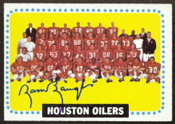 autographed 1964 topps oilers team