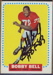 autographed 1964 topps bobby bell