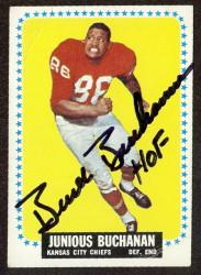 autographed 1964 topps junious buchanan