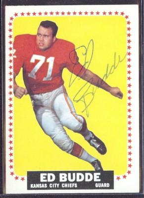 autographed 1964 topps ed budde