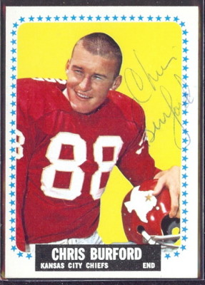 autographed 1964 topps chris burford