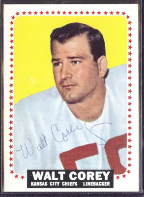 autographed 1964 topps walt corey