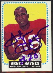 autographed 1964 topps abner haynes