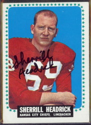 autographed 1964 topps sherrill headrick