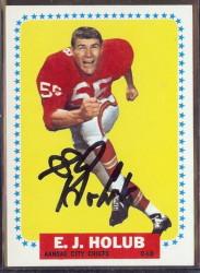 autographed 1964 topps ej holub