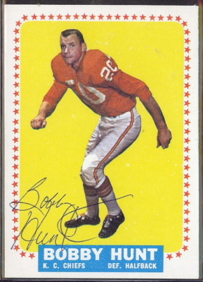 autographed 1964 topps bobby hunt