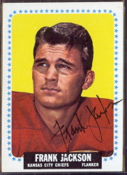 autographed 1964 topps frank jackson