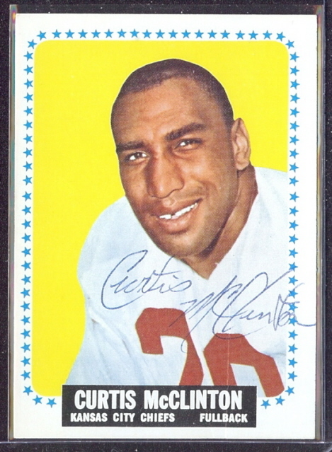 autographed 1964 topps curtis mcclinton