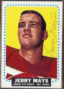 autographed 1964 topps jerry mays