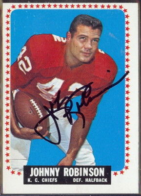 autographed 1964 topps johnny robinson