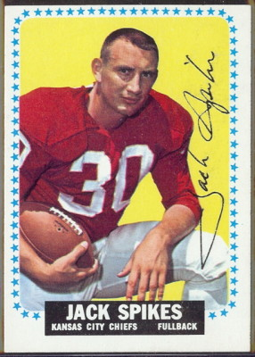 autographed 1964 topps jack spikes
