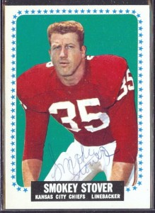 autographed 1964 topps smokey stover