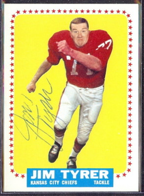 autographed 1964 topps jim tyrer