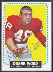 autographed 1964 topps duane wood