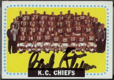 autographed 1964 topps chiefs team
