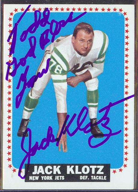 autographed 1964 topps jack klotz