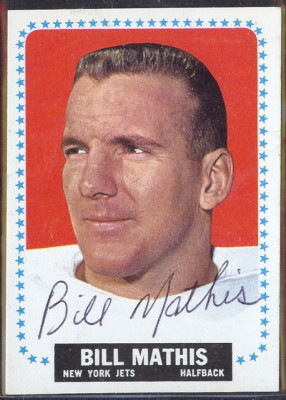 autographed 1964 topps bill mathis