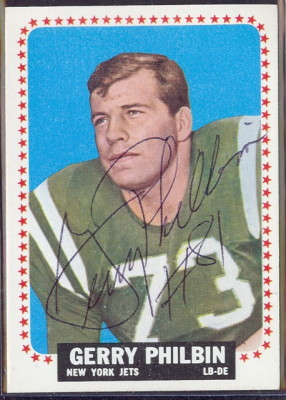 autographed 1964 topps gerry philbin