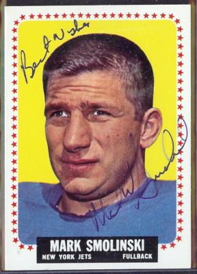 autographed 1964 topps mark smolinski
