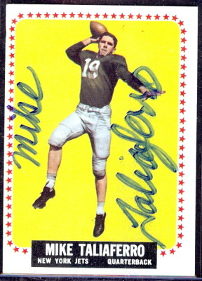 autographed 1964 topps mike taliaferro