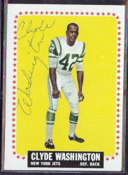 autographed 1964 topps clyde washington