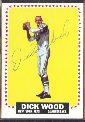 autographed 1964 topps dick wood