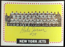 autographed 1964 topps jets team