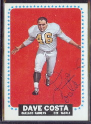 autographed 1964 topps dave costa