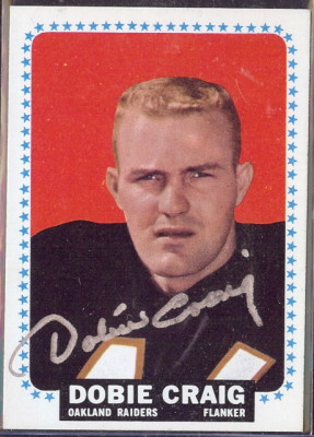 autographed 1964 topps dobie craig