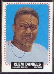 autographed 1964 topps clem daniels