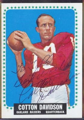 autographed 1964 topps cotton davidson