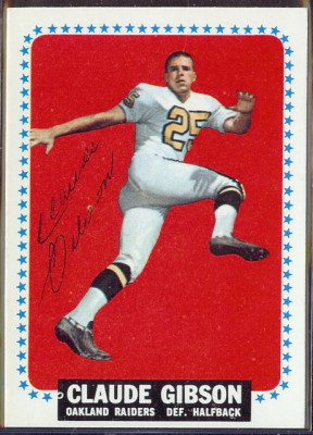 autographed 1964 topps claude gibson
