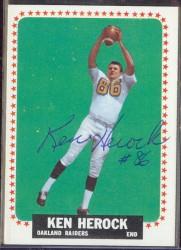 autographed 1964 topps ken herock