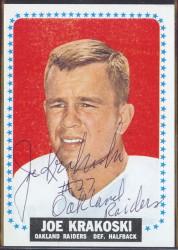 autographed 1964 topps joe krakoski