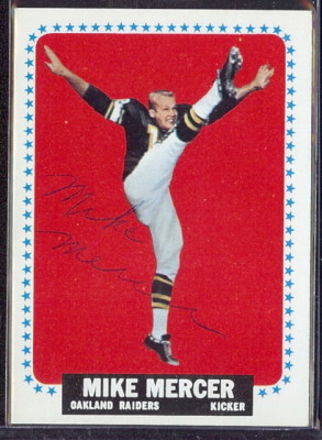 autographed 1964 topps mike mercer