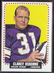 autographed 1964 topps clancy osborne