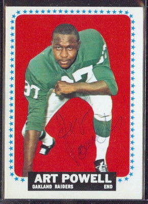 autographed 1964 topps art powell